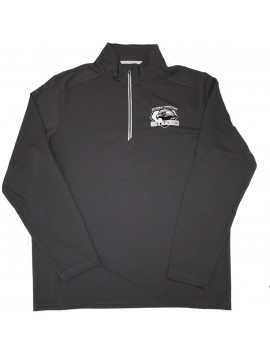 Adult 1/4 Zip Skycrest Mock Pullover Gray