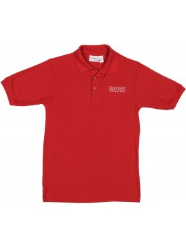 Adult Elderwear Cotton Knit Red Short Sleeve Polo