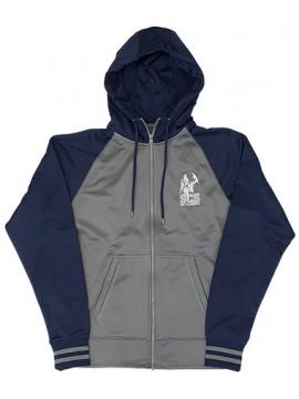 Adult Zipper Raglan Gray/Navy