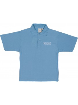 Cotton Knit Youth Light Blue Short Sleeve Polo