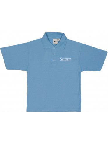 Youth Lt. Blue Short Sleeve Knit Polo