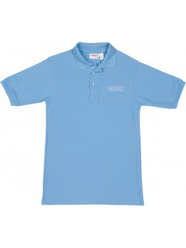 Adult Elderwear Cotton Knit Lt. Blue Short Sleeve Polo