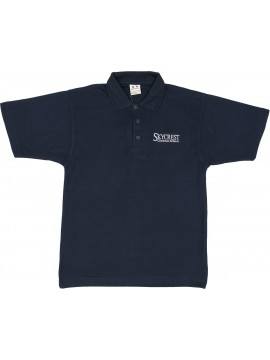 Cotton Knit Youth Navy Short Sleeve Polo