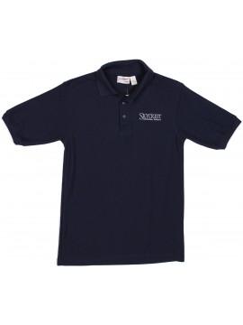 4. Adult Elderwear Cotton Knit Navy Short Sleeve Polo