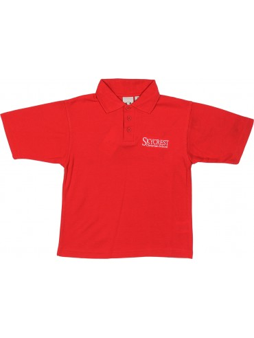 Youth Red Short Sleeve Knit Polo