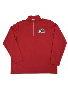 Adult 1/4 Zip Skycrest Mock Pullover Red